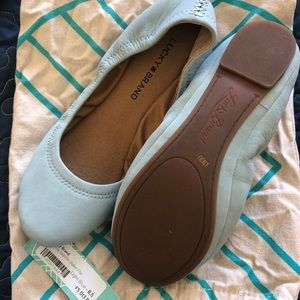 Never worn! Lucky brand blue flats
